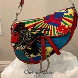 Dior Bob Marley Reggae Rasta Saddle Bag Purse